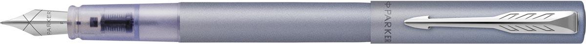 Parker vulpen Vector XL, fijn, in giftbox, Silver blue (zilver/blauw)