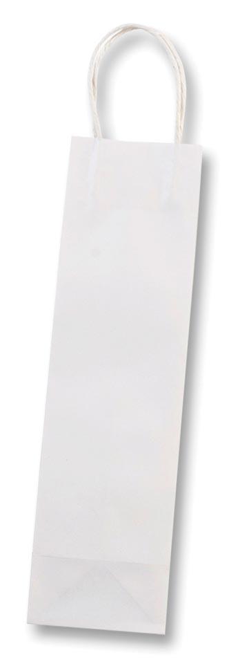Folia papieren kraft zak voor flessen, 110 g/m�, wit, pak van 6 stuks