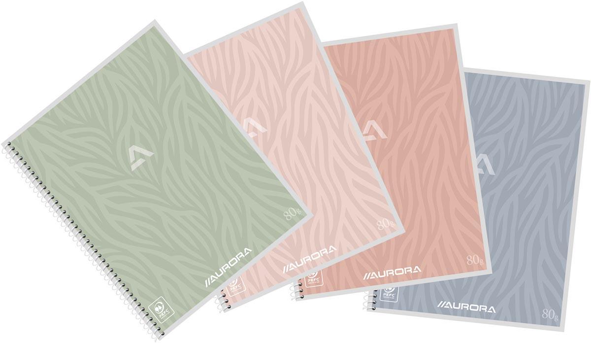 Aurora Writing 80 Design spiraalschrift, ft A5, 120 bladzijden, gelijnd