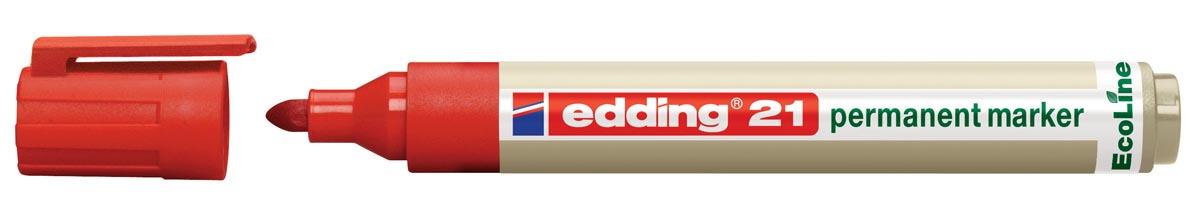 Viltstift Edding 21 Eco rond rood 1.5-3mm