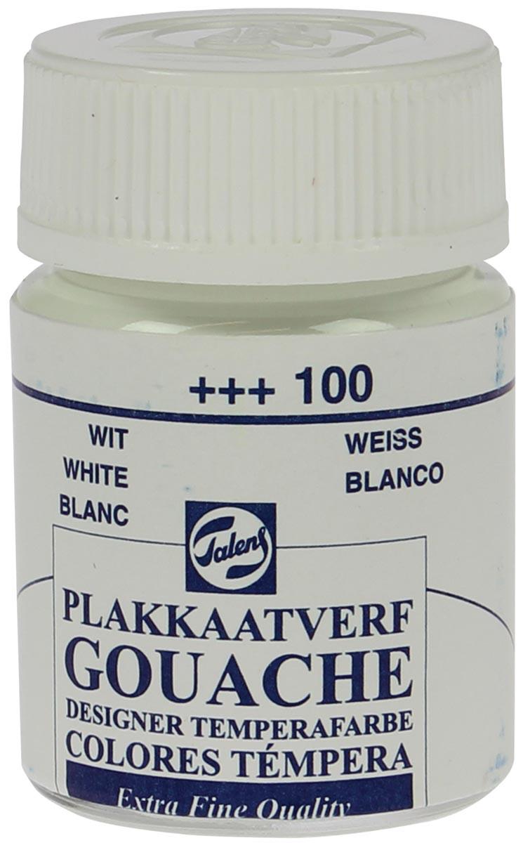 Talens plakkaatverf Extra Fijn flacon van 16 ml, wit