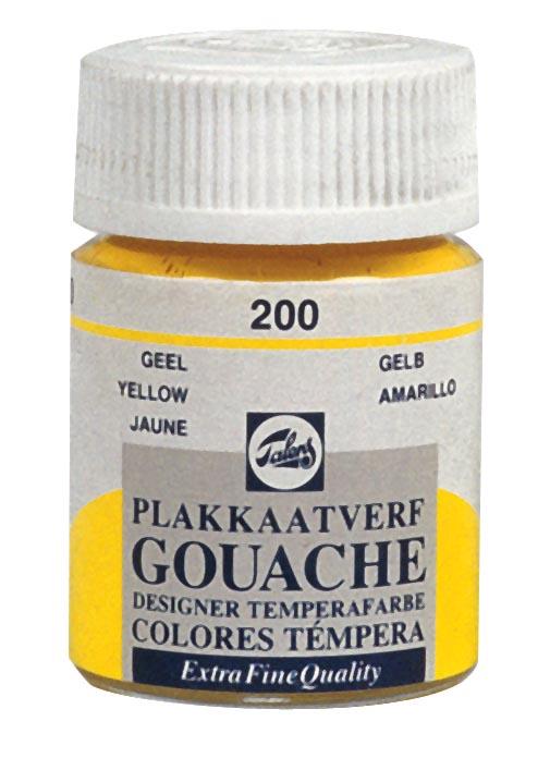 Talens plakkaatverf Extra Fijn flacon van 16 ml, geel