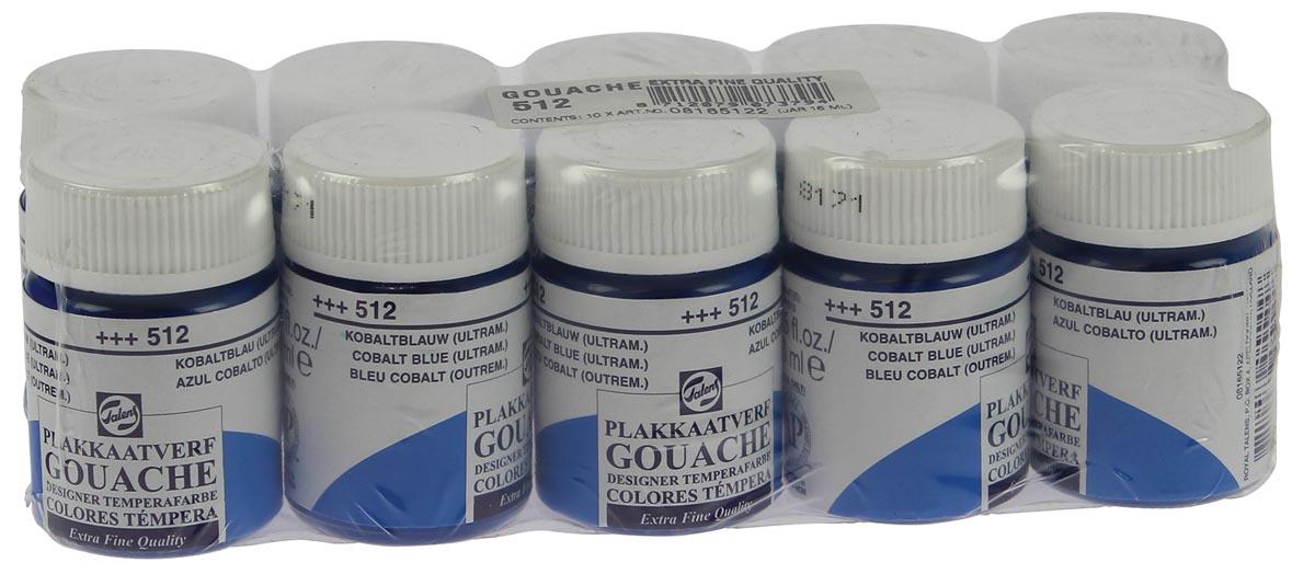 Talens plakkaatverf Extra Fijn flacon van 16 ml, kobaltblauw (ultramarijn)