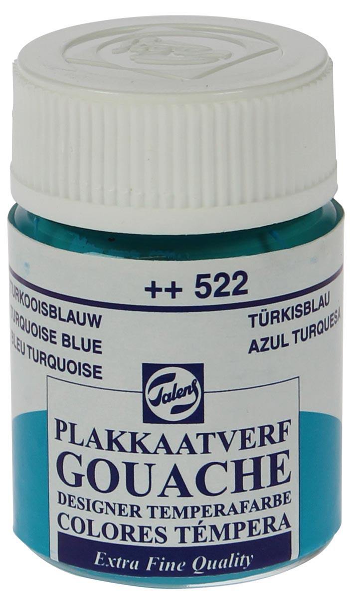 Talens plakkaatverf Extra Fijn flacon van 16 ml, turkooisblauw