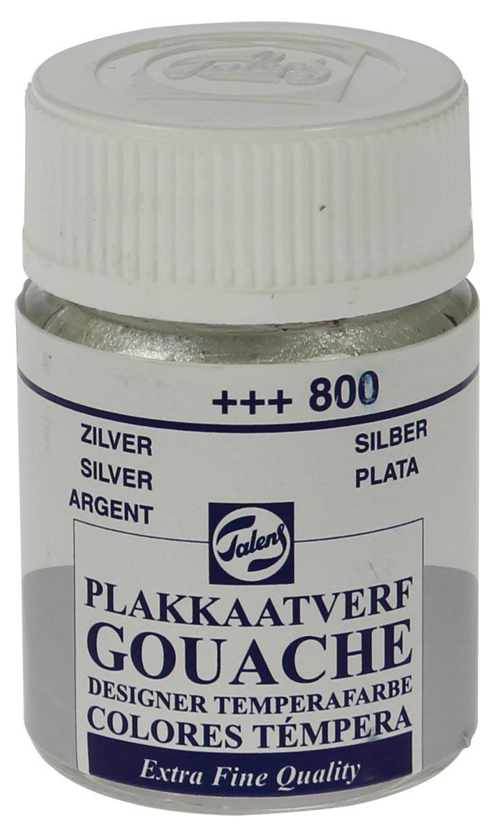 Talens plakkaatvef Extra Fijn flacon van 16 ml, zilver