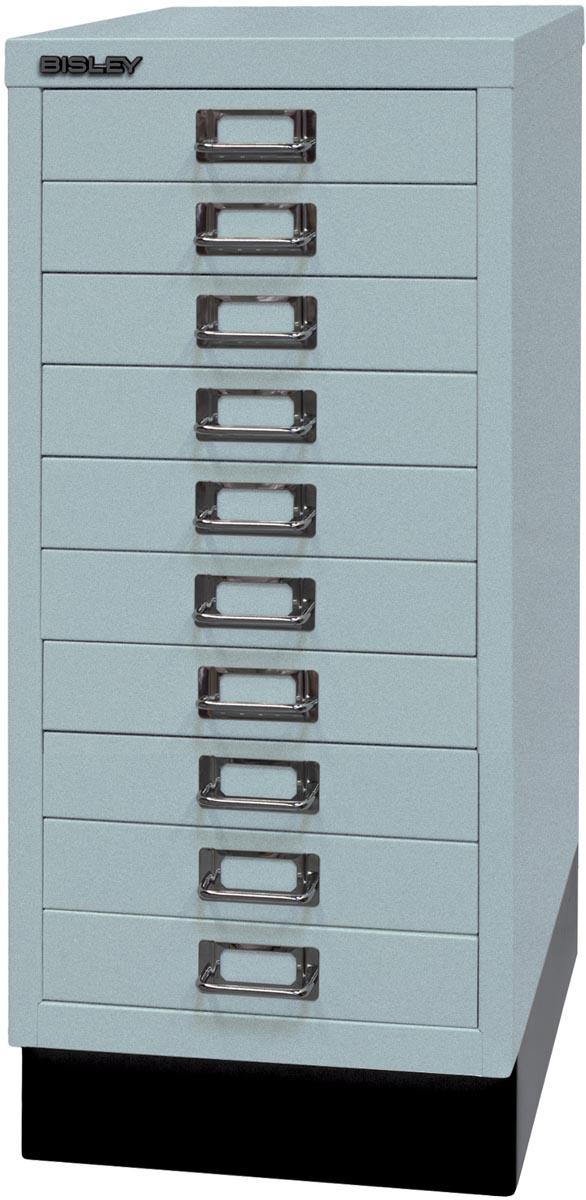 Afbeelding van Bisley ladekast, ft 67 x 27,9 x 40,8 (h x b x d), 10 laden, zilver-grijs