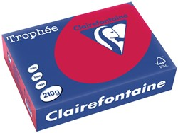 Clairefontaine Trophée Intens A4 kersenrood, 210 g, 250 vel