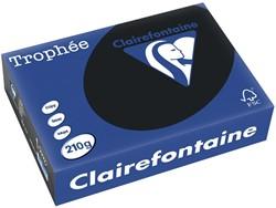 Clairefontaine Trophée Intens A4 zwart, 210 g, 250 vel