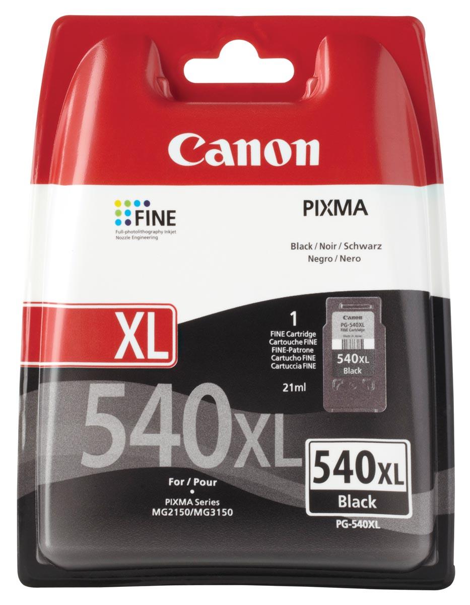 Canon inktcartridge PG-540XL, 600 pagina's, OEM 5222B005, zwart