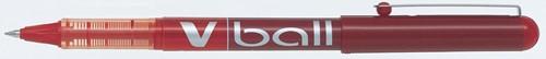 Pilot liquid-ink roller V-Ball V5, rood