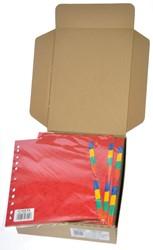 Class'ex tabbladen 10 tabs, ft A4, 11-gaatsperforatie, karton, geassorteerde kleuren