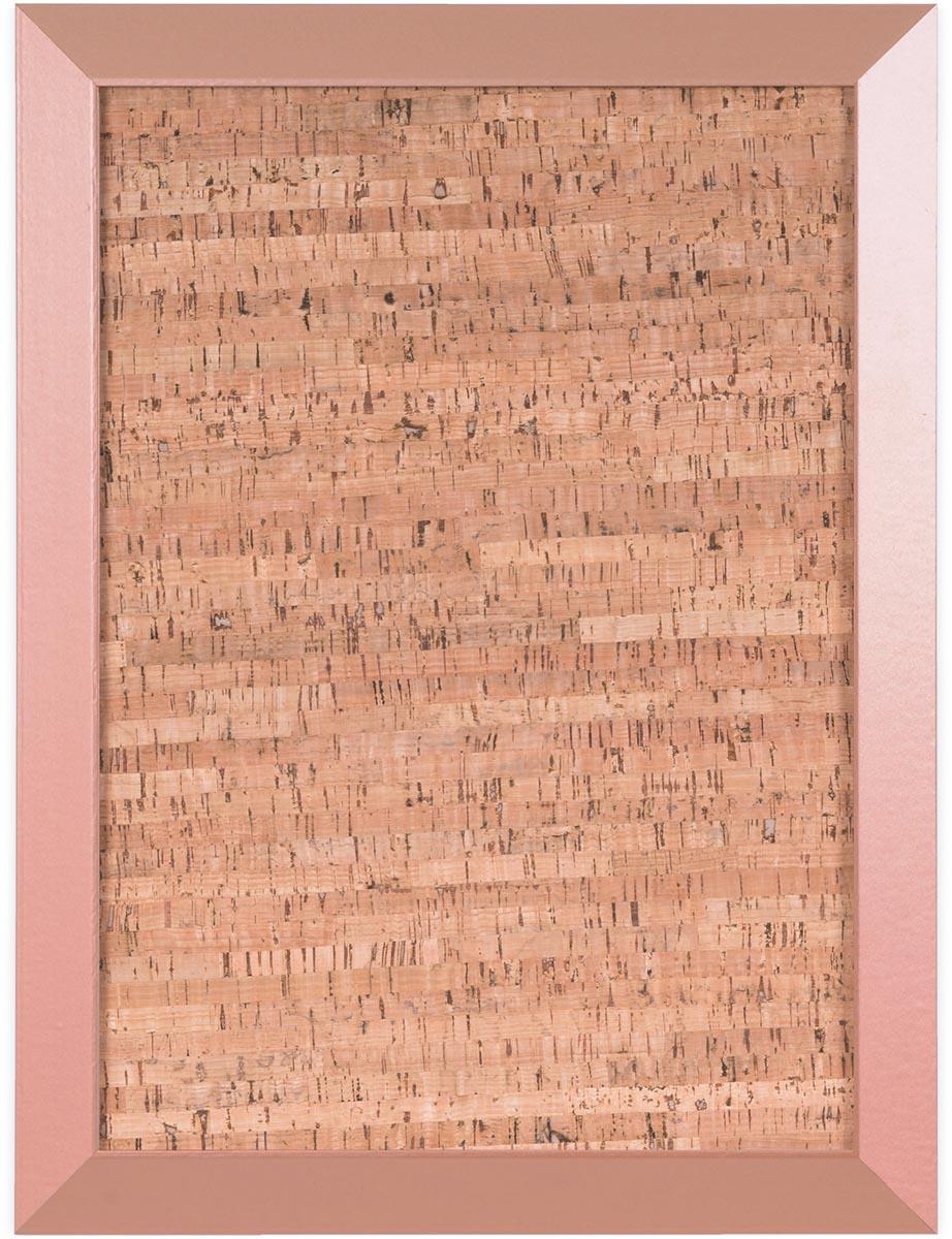 Bi-Office Kamashi kurkbord met koperkleurige omlijsting, ft 60 x 45 cm