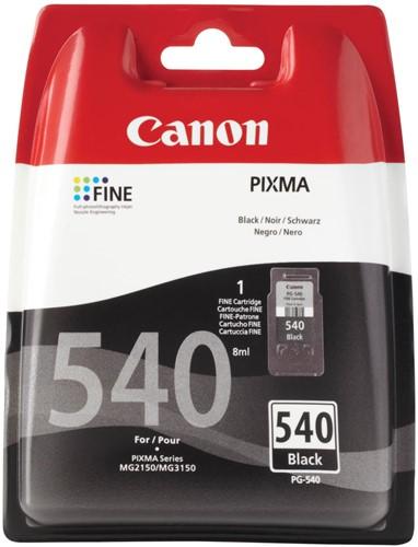 Canon inktcartridge PG-540 zwart, 180 pagina's - OEM: 5225B005