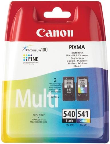 Canon inktcartridge PG-540 en CL-541, 180 pagina's, OEM 5225B006, 4 kleuren