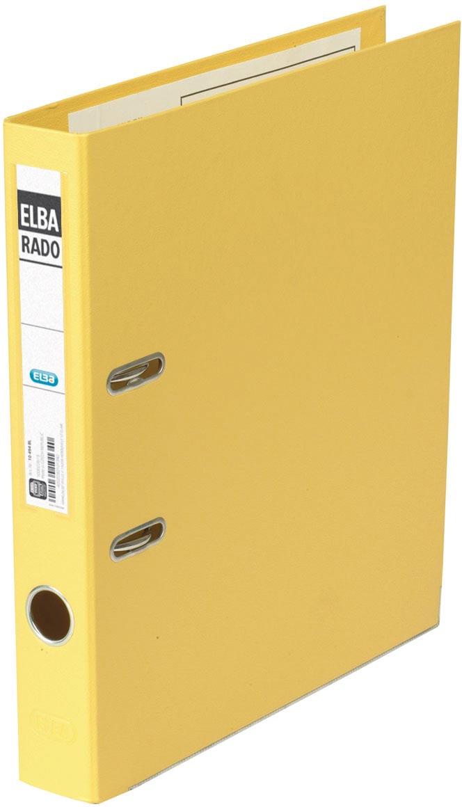 Elba Rado Plast ordner, geel, rug van 5 cm