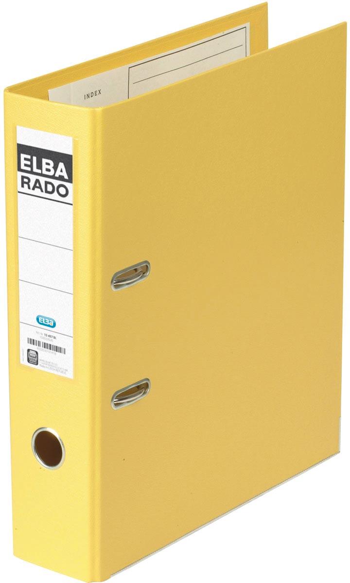 Elba Rado Plast ordner, geel, rug van 8 cm
