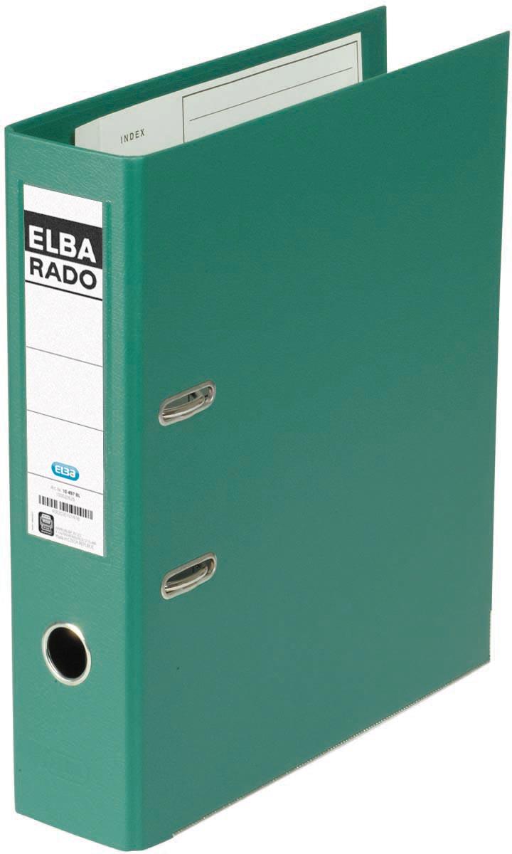 Elba Rado Plast ordner, groen, rug van 8 cm
