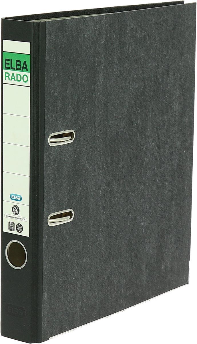 Oxford Rado ordner, ft folio, uit karton, rug van 5 cm, zwart