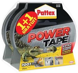 Pattex plakband Power Tape, lengte 10 m, grijs, 1 + 1 gratis