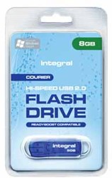 Integral Courier USB 2.0 stick, 8 GB