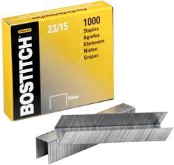 Bostitch nietjes 23-15-1M, 15 mm, verzinkt, voor B310HDS, 00540, HD-23L17, HD-12F