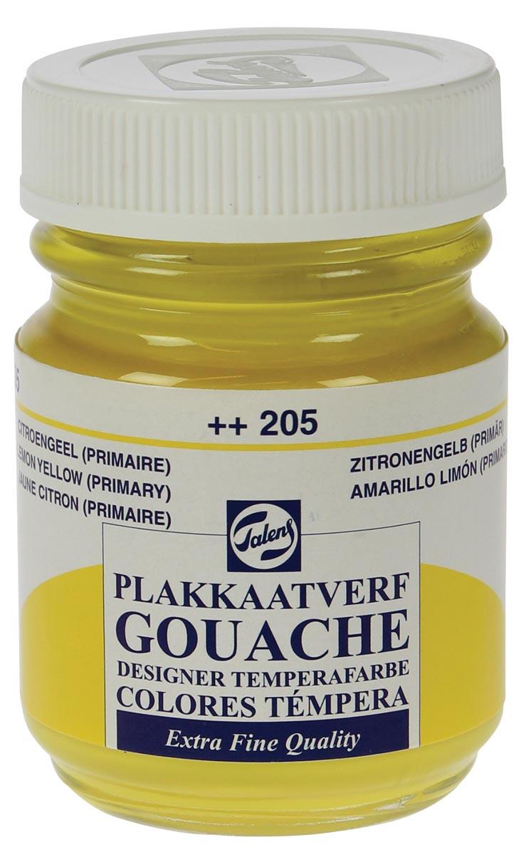 Talens plakkaatvef Extra Fijn flacon van 50 ml, citroengeel