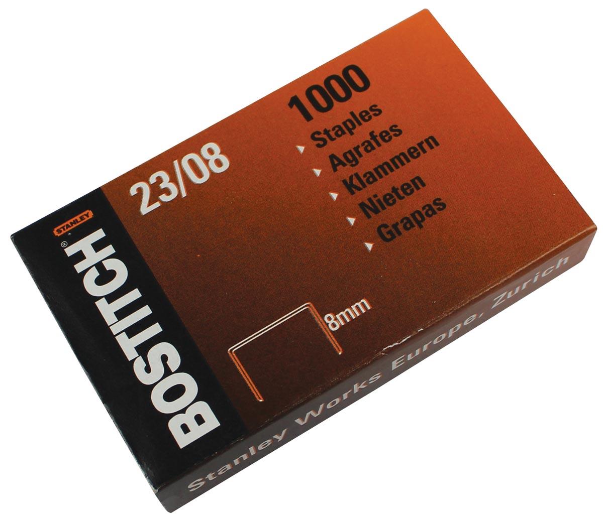 Bostitch nietjes 23-8-1M, 8 mm, verzinkt, voor PHD60, B310HDS, HD-23L17