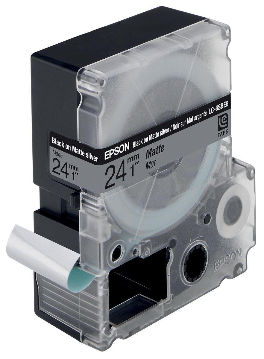 Epson Epson Matte Tape LC6SBE9 Matte Blk-MattSiv 24-9 (C53S627405)