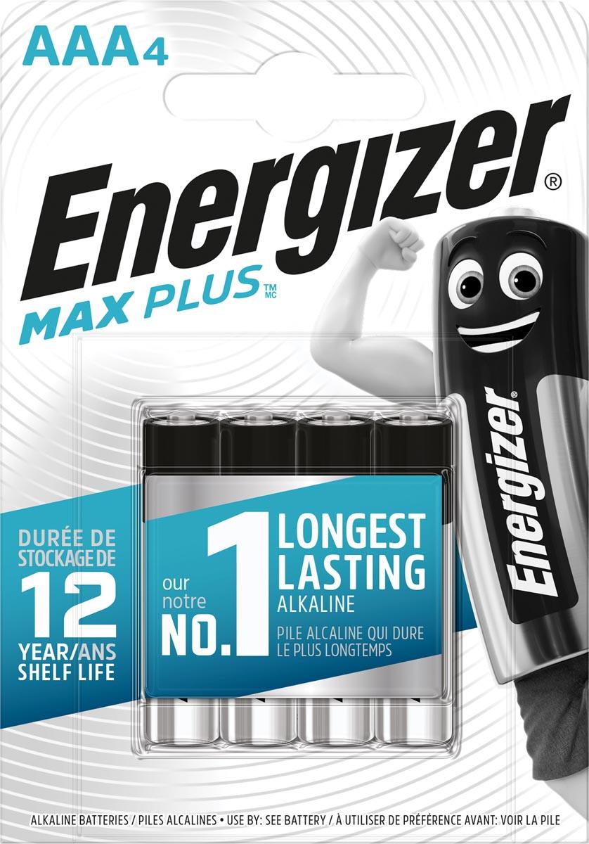 Energizer batterijen Max Plus AAA, blister van 4 stuks