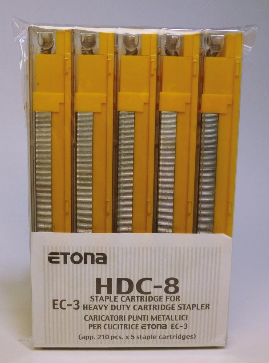 Etona nietjescassette voor EC-3, capaciteit 26 - 40 blad, pak van 5 stuks