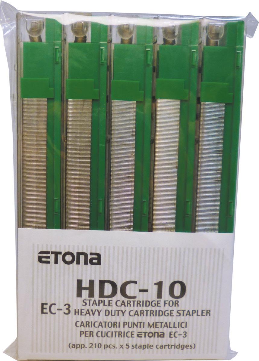 Etona nietjescassette voor EC-3, capaciteit 41 - 55 blad, pak van 5 stuks
