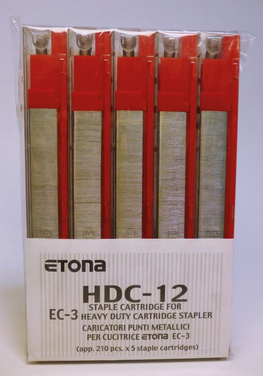 Etona nietjescassette voor EC-3, capaciteit 56 - 80 blad, pak van 5 stuks