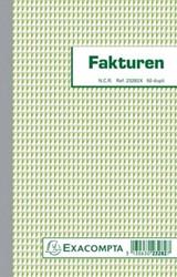 Exacompta facturen, ft 21 x 13,5 cm, dupli, verticaal, nederlandstalig