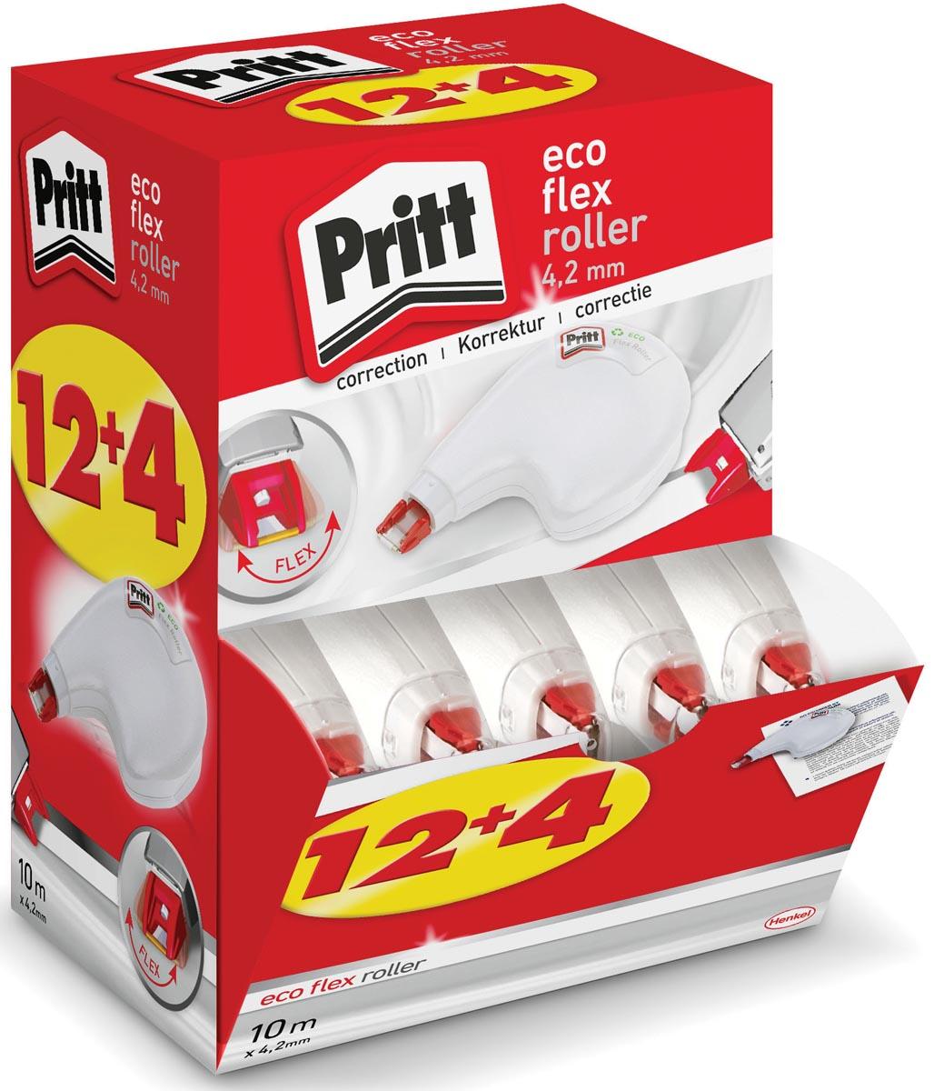 Pritt correctieroller Eco Flex, value pack met 12+4 stuks