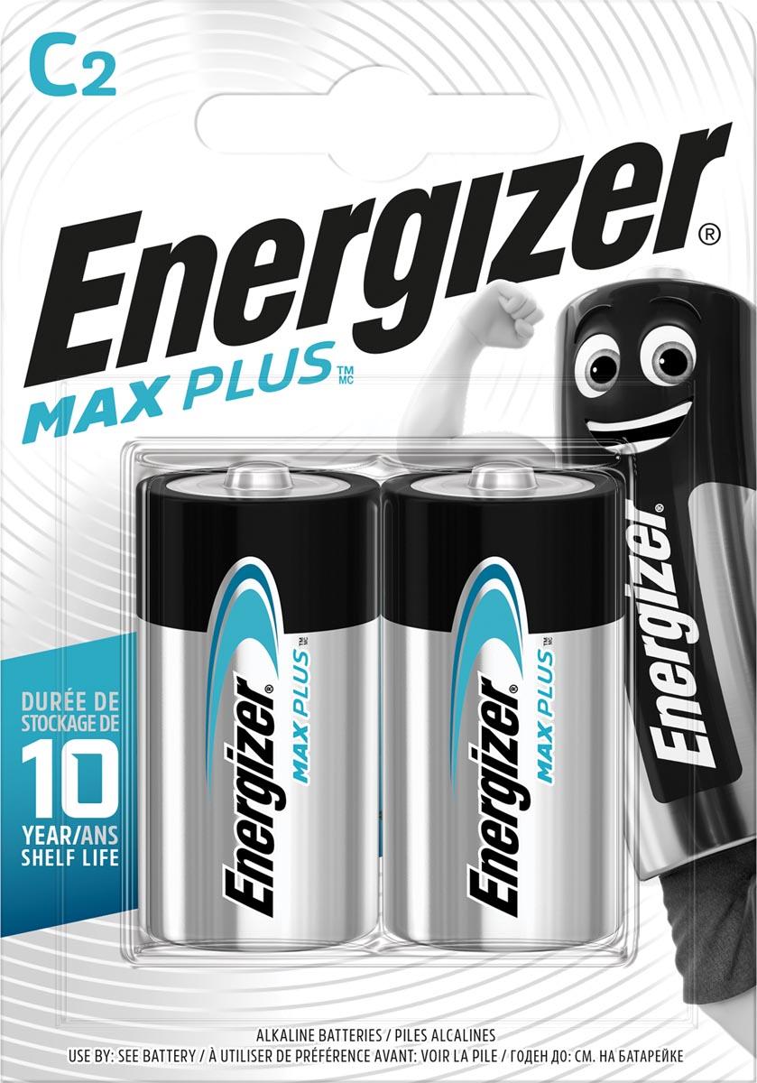 Energizer batterijen Max Plus C, blister van 2 stuks