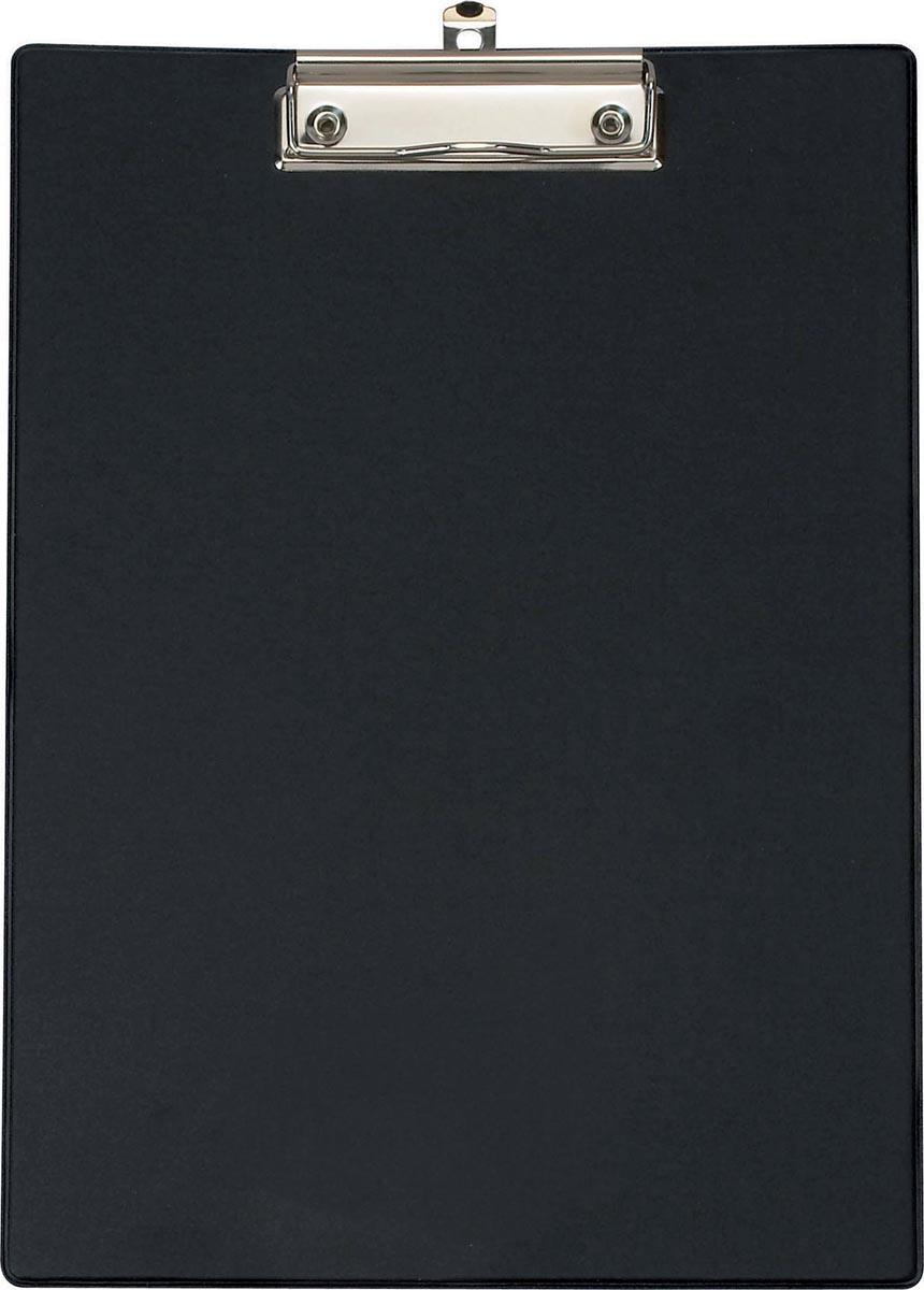 Maul klemplaat, uit PP, voor ft A4, incl. transparante tas,zwart