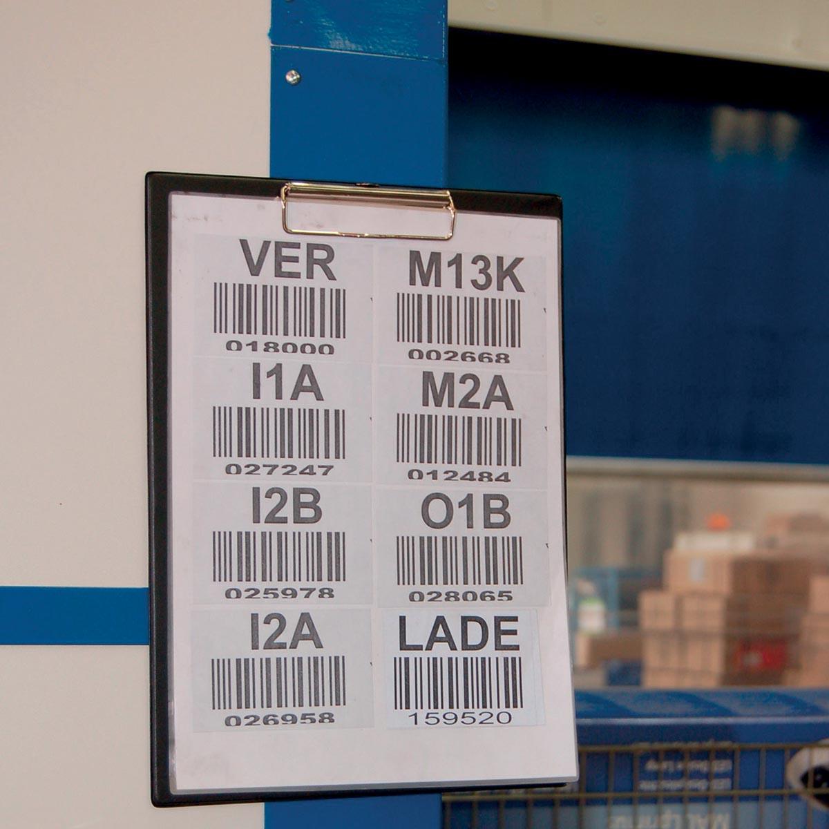 Maul klemplaat, uit PP, voor ft A4, 2 magneten op achterzijde,zwart