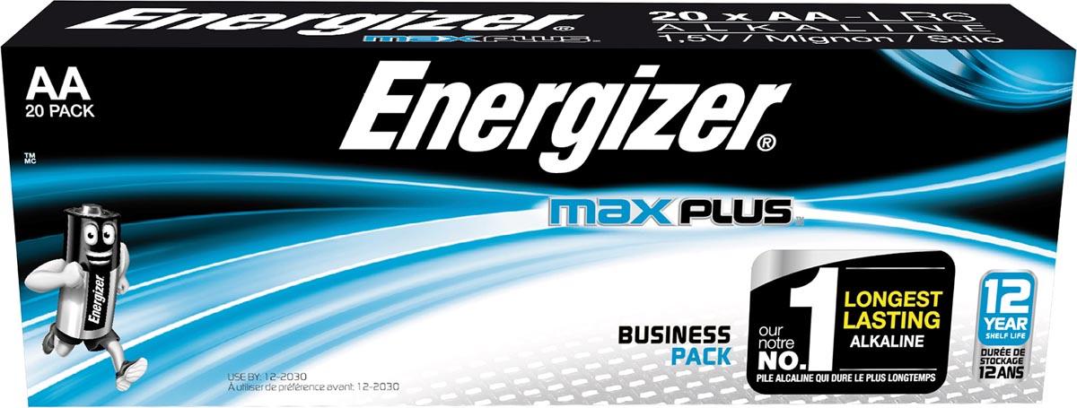 Energizer batterijen Max Plus AA, pak van 20 stuks