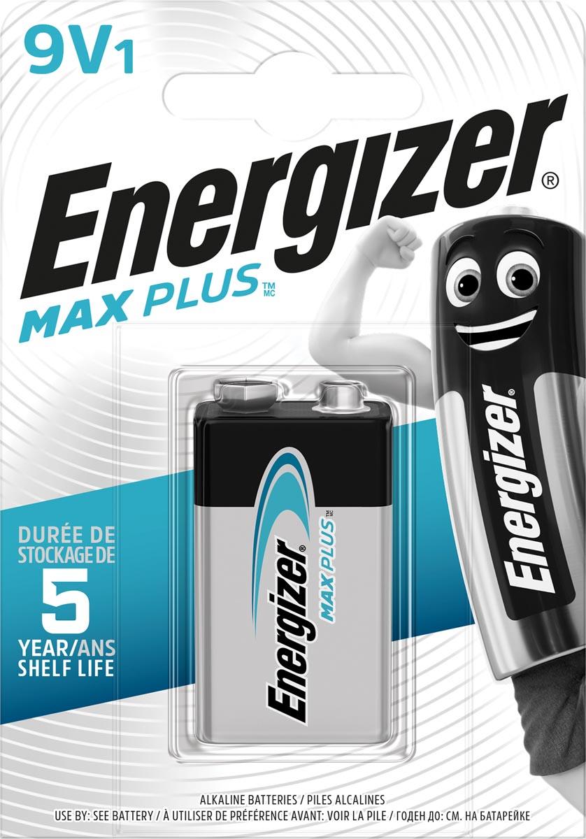 Energizer batterij Max Plus 9V, op blister