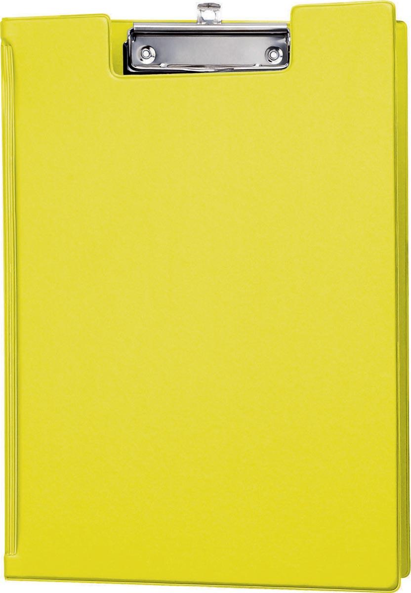 Maul klemmap met insteekmap, uit PP, voor ft A4, geel