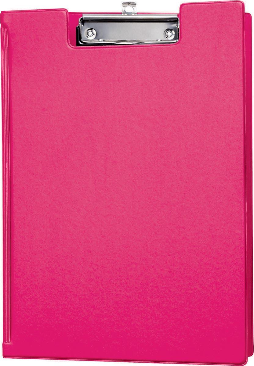 Maul klemmap met insteekmap, uit PP, voor ft A4, roze