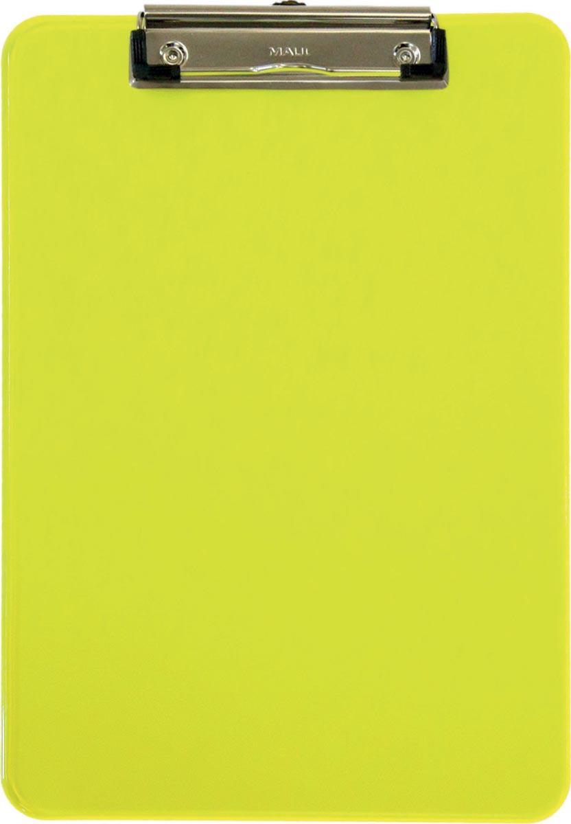 Maul klemplaat MAULneon, voor ft A4, transparant geel