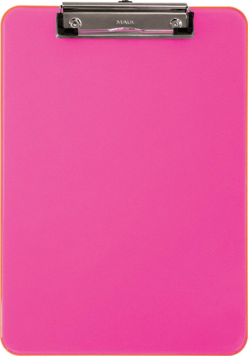 Maul klemplaat MAULneon, voor ft A4, transparant roze
