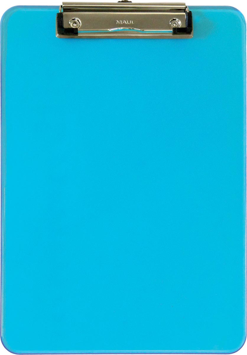 Maul klemplaat MAULneon, voor ft A4, transparant blauw