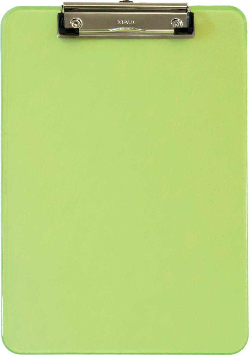 Maul klemplaat MAULneon, voor ft A4, transparant groen