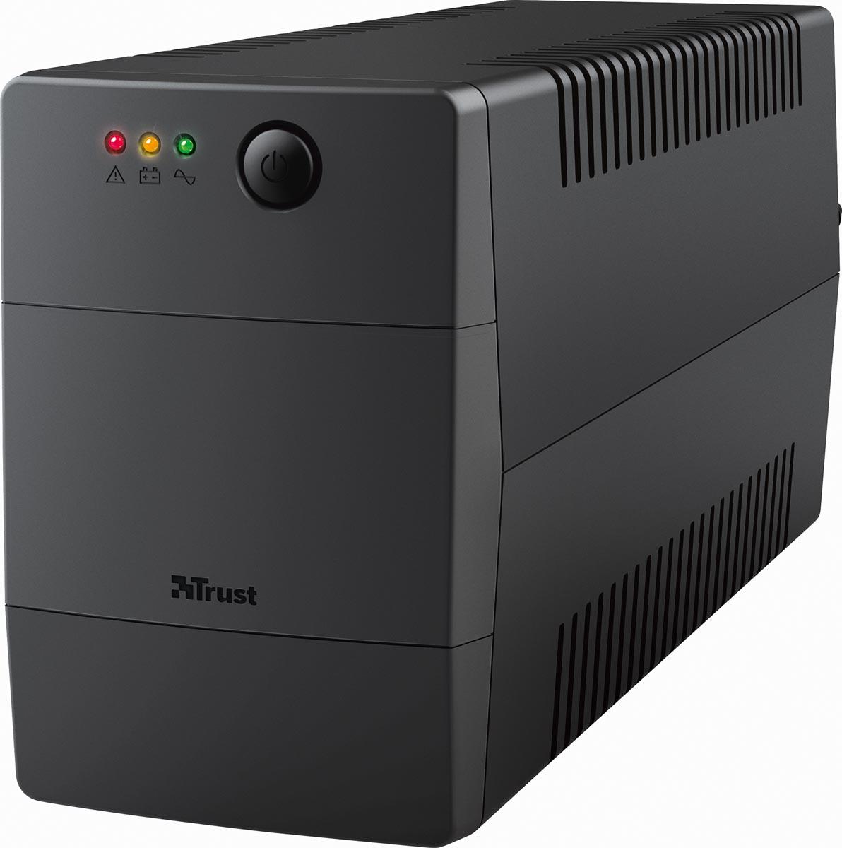 Trust Paxxon 800VA UPS met 2 standaard stopcontacten, noodstroomvoeding