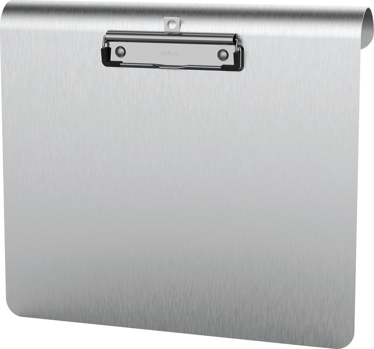 Maul klemplaat MAULmedic ft A4, aluminium, met RVS-klem, liggend