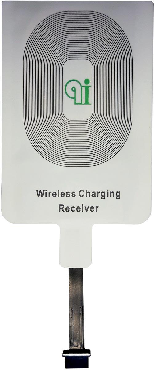 Adapter voor draadloos opladen smartphones aan bureaulamp Qi, geschikt voor Android