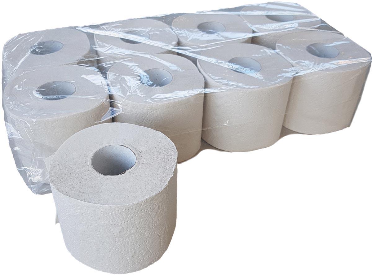 Europroducts toiletpapier, 2-laags, 400 vellen, pak van 6 X 8 rollen