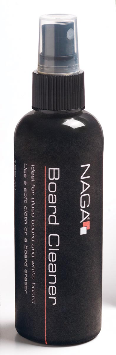 Naga reinigingspray voor whiteboards.
